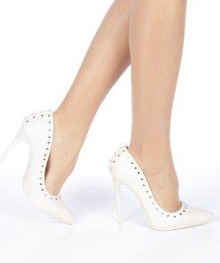 Pantofi stiletto Daiana nude