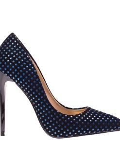 Pantofi stiletto Anais albastri