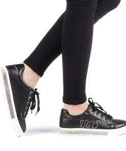 Pantofi sport dama Delfany negri