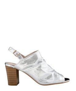 Sandale dama cu toc Kendal argintii