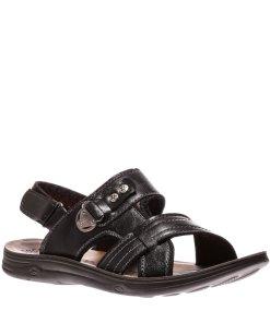 Sandale barbati Carol negre