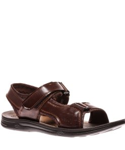 Sandale barbati Oscar negru cu maro