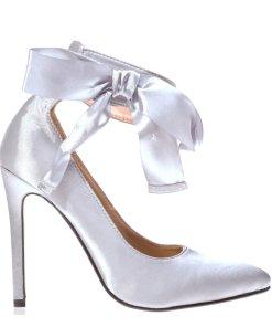Pantofi stiletto Suzanne gri