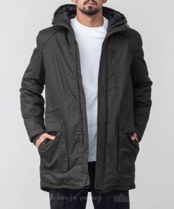 SELECTED Vinyl Parka Jacket Rosin