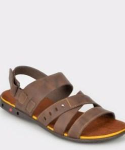Sandale OTTER maro, 18103, din piele naturala