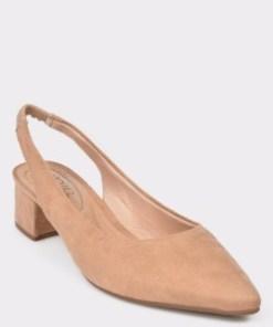 Pantofi bej, 4182105, din piele ecologica