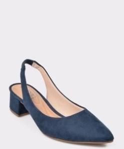 Pantofi bleumarin, 4182105, din piele ecologica