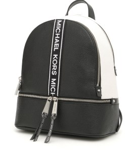 Michael Kors Medium Rhea Backpack BLKOPTICWHT
