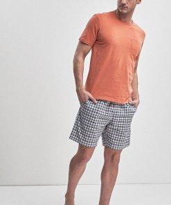 Pijama de bumbac cu pantaloni scurti