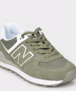 Pantofi sport NEW BALANCE, kaki, Wl574, din material textil