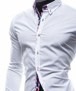 Camasa eleganta cu maneca lunga pentru barbat alba Bolf 0739