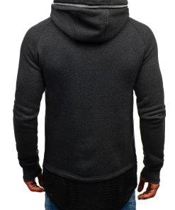 Bluza pentru barbat cu gluga gri-deschis Bolf 200
