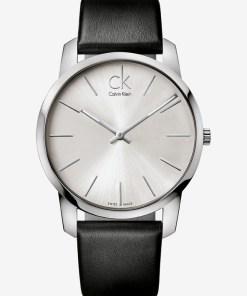 Calvin Klein City Ceas pentru Bărbați - 59588 - culoarea Negru Argintiu