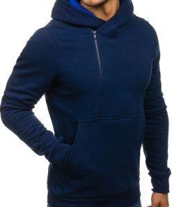 Bluza pentru barbat cu gluga si imprimeu bluemarin Bolf 01S