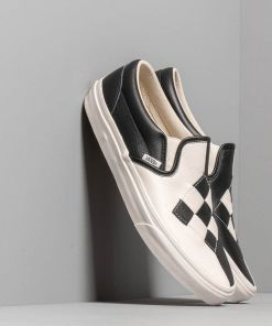 Vans Classic Slip-On (Woven Leather) Checkerboard