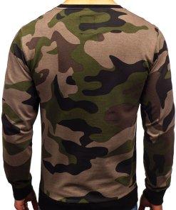 Bluza pentru barbat fara gluga camuflaj-kaki Bolf 0741