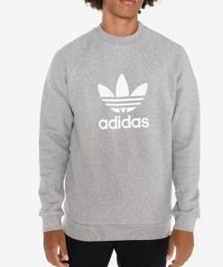 adidas Originals Trefoil Warm-Up Crew Hanorac pentru Bărbați - 73397 - culoarea Gri