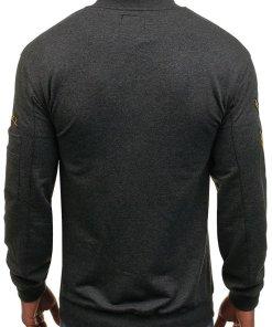 Bluza fara gluga pentru barbat gri-antracit Bolf 0733