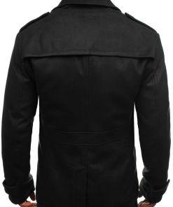 Palton de iarna pentru barbat negru Bolf 3118