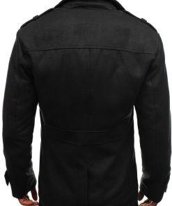 Palton de iarna pentru barbat negru Bolf 3123