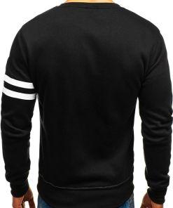 Bluza fara gluga cu imprimeu pentru barbat neagra-gri Bolf J45