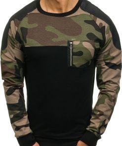 Bluza fara gluga pentru barbat neagra Bolf 0749