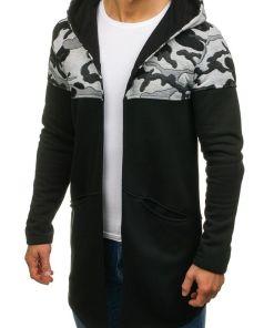 Bluza cu gluga pentru neagra Bolf 9117