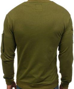 Bluza fara gluga pentru barbat verde Bolf 0736