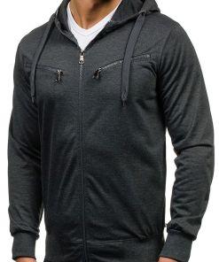Bluza cu gluga pentru barbat grafit Bolf 7080