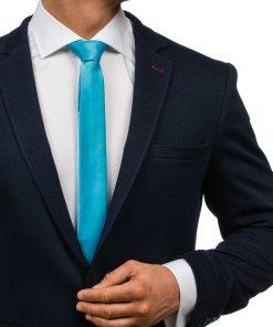 Cravata eleganta pentru barbat turcoaz Bolf K001