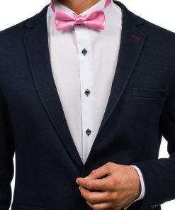 Papion elegant pentru barbat roz Bolf M001