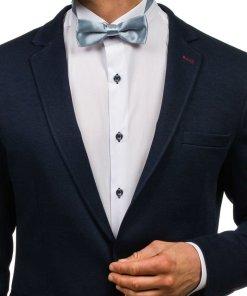 Papion elegant pentru barbat gri-inchis Bolf M001