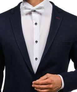 Papion elegant pentru barbati alb Bolf M001