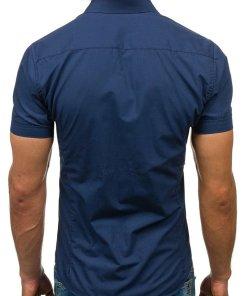 Camasa eleganta cu maneca scurta pentru barbat bluemarin-deschis Bolf 7501