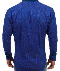 Camasa pentru barbat cu maneca lunga albastru-cobalt Bolf TS102