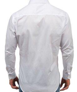 Camasa eleganta cu maneca lunga pentru barbat alba Bolf TS100
