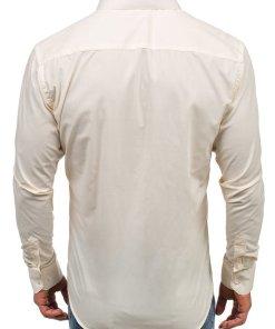 Camasa eleganta cu maneca lunga pentru barbat écru Bolf TS100