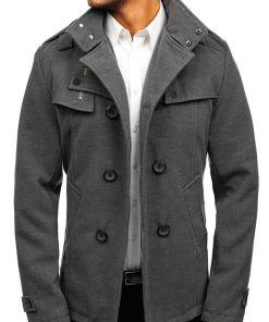 Palton pentru barbat gri Bolf 8857
