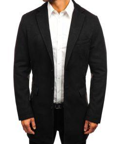Palton de iarna pentru barbat neagra Bolf 1047