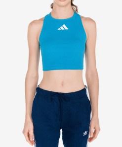 adidas Originals - Crop Top pentru Femei - 81236 - culoarea Albastru