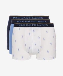 Polo Ralph Lauren Boxeri, 3 bucăți pentru Bărbați - 82017 - culoarea Albastru Alb