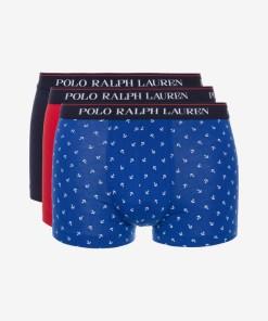 Polo Ralph Lauren Boxeri, 3 bucăți pentru Bărbați - 82018 - culoarea Albastru Roșu
