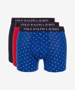 Polo Ralph Lauren Boxeri, 3 bucăți pentru Bărbați - 82026 - culoarea Albastru Roșu
