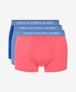 Polo Ralph Lauren Boxeri, 3 bucăți pentru Bărbați - 82022 - culoarea Albastru Roz