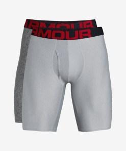 """Under Armour Tech™ 9"""" Boxeri, 2 bucăți pentru Bărbați - 83493 - culoarea Gri"""