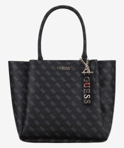 Guess - Maci Carryall Genți pentru Femei - 83643 - culoarea Negru