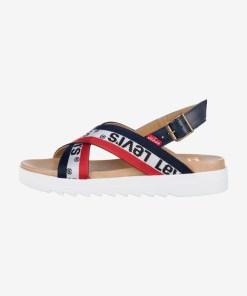 Levi's - Sandale pentru Femei - 84605 - culoarea Albastru Roșu Alb