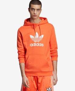 adidas Originals Trefoil Hanorac pentru Bărbați - 91399 - culoarea Portocaliu