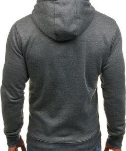 Bluza pentru barbat cu gluga grafit Bolf XHP1003