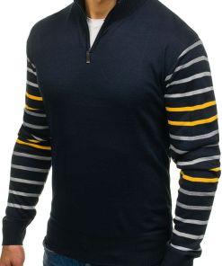 Pulover pentru barbat bluemarin-galben Bolf LK1